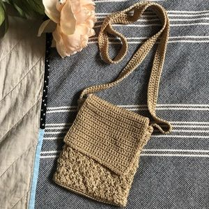 Crochet crossbody vintage bag